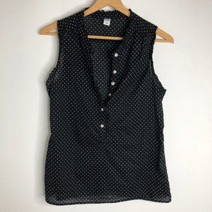Old Navy Ruffle Button Up Blouse Polka Dot